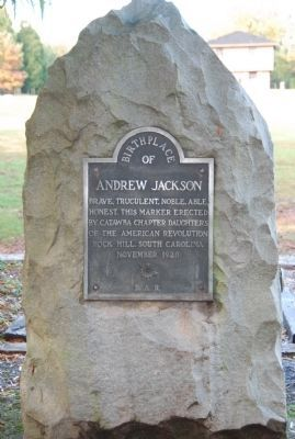 birthplace of andrew jackson monument marker daughters of the american revolution. Black Bedroom Furniture Sets. Home Design Ideas