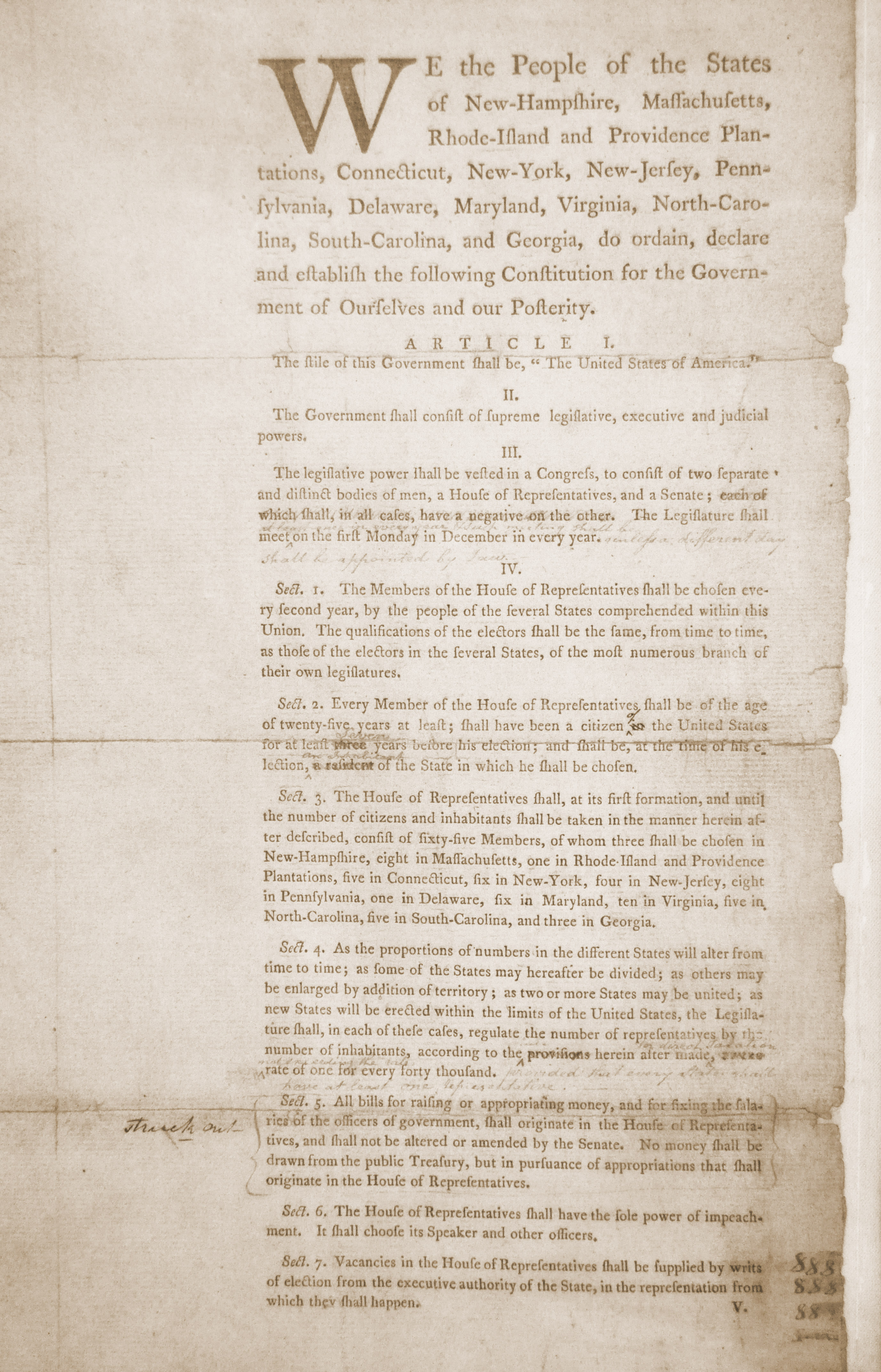 Committee Of Detail Draft Of The Us Constitution