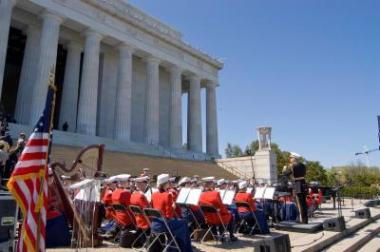 The Marian Anderson Tribute Concert and Naturalization Ceremony was held at the Lincoln Memorial on April 12, 2009.