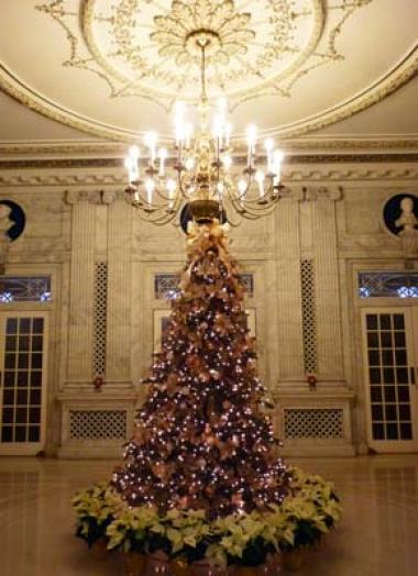 Guests admired the grand tree in the Pennsylvania Foyer.