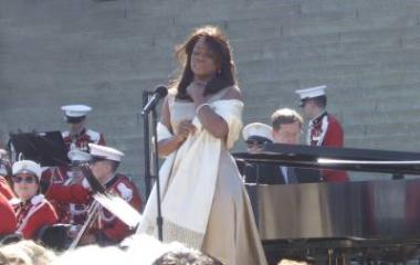 At the tribute concert, Denyce Graves wore one of Marian Anderson's own dresses, which Anderson gave to her as a gift.