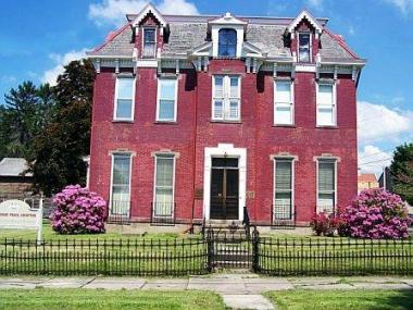 Grant Recipient, Historic Preservation Category: Braddock Trail Chapter, Mt. Pleasant, Pa. The 1866 Samuel Warden Mansion, a 12-room Italianate building, was in need of basement waterproofing preservation and repairs to glass block windows.