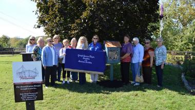 Members of the Joseph Spencer Chapter celebrated the DAR National Day of Service by installing a Little Free Library in Alexandria Park located in Portsmouth, Ohio.
