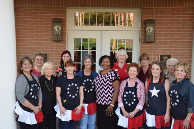 Alamo Chapter NSDAR celebrated our National Day of Service by providing a buffet supper to the guests of the Fisher House at the Audie Murphy Veterans Memorial Hospital in San Antonio. 15 Ladies prepared food and 13 were on hand to set up and serve. Special thanks to members of the James McHenry Chapter who contributed several dessert dishes.