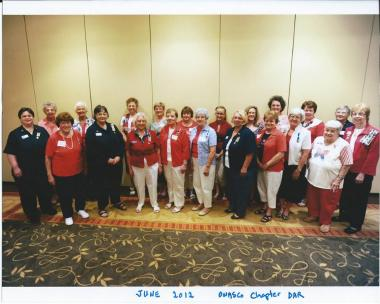 Flag Day 2012, 50 years later for Owasco Chapter DAR of Auburn NY. Two of Mabel Stoker's granddaughters are included in this photo, continuing the tradition! See the post below this for a 50 year time difference.