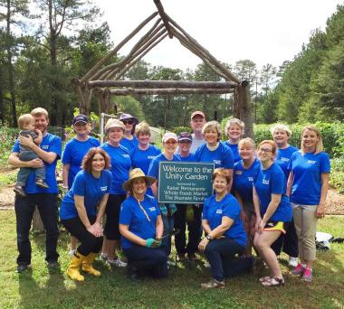 Members of the Fielding Lewis Chapter in Marietta, GA, celebrated the DAR National Day of Service by sprucing up the Unity Garden at Chattahoochee Nature Center.