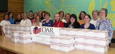 On this DAR Day of Services, Yates Mill Chapter in Cary, NC, worked with Military Missions in Action to pack care packages for active military stationed in Afghanistan.
