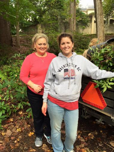 DAR Cherokee Chapter, Cleaning up the gardens at The Atlanta History Center today as part of NSDAR National Day of Service.