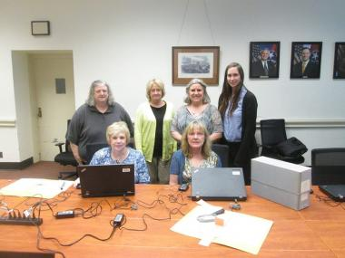 Members of the Sarah Polk Chapter, Brentwood, TN, met today at the Tennessee State Library & Archives to transcribe correspondence included in Gold Star Mother files. In the 1920s, the State Library & Archives sent questionnaires to the families of all Tennesseans known to have died during their World War I service. An example of the responses is shown here. The questionnaires were called Gold Star Questionnaires because the mother of a soldier who died in wartime service was awarded a gold star to sew onto