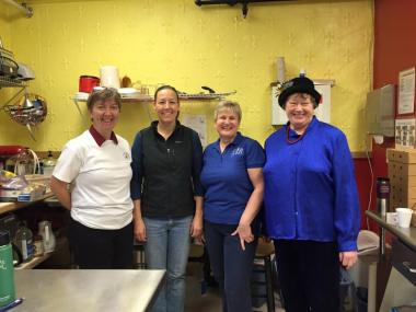 Alaska Chapter, Fairbanks, working at the Immaculate Conception Church soup kitchen.