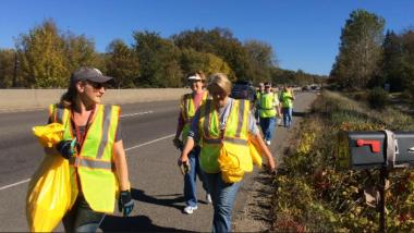 DAR National Day of Service: Lake Minnetonka MN Chapter (along with our State Corresponding Secretary) performing highway cleanup in support of MNDOT...helping the environment in our community!