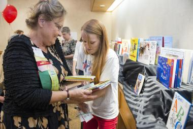 DAR joined forces with Blue Star Families to hold a children's book drive at Celebrate America Night. DAR members donated more than 500 books which Blue Star Families will distribute to military bases through their Books on Bases program.
