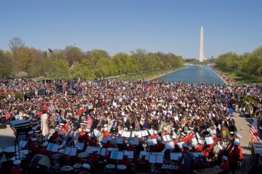 April 12, 2009 - More than 2,000 people attended the 70th anniversary concert on the National Mall.