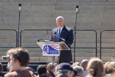 April 12, 2009 - Former Secretary of State Colin Powell delivered the keynote address at the 70th anniversary Tribute Concert and Naturalization Ceremony.
