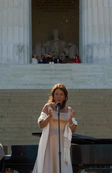 April 12, 2009 - Mezzo-soprano Denyce Graves performed many of the same songs that Marian Anderson sang at her 1939 Lincoln Memorial concert.