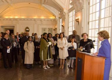 April 12, 2009 - After the 70th anniversary tribute concert, DAR hosted a reception at DAR Headquarters.