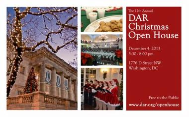 The 12th Annual DAR Christmas Open House was held on December 4, 2013 at DAR Memorial Continental Hall.