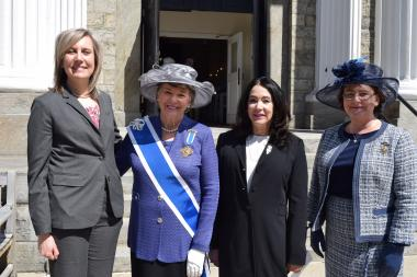 Speakers at the Margaret Corbin Ceremony included COL (Ret) Diane Ryan, representing the U.S. Military Academy and Margaret Corbin Forum; Ann Turner Dillon, DAR President General; Karen Durham-Aguilera, Executive Director of Army National Military Cemeteries; and Jennifer Minus, DAR New York State Officers Club President.