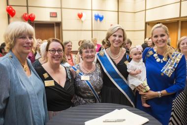President General Lynn Young, daughter Lindsey Witte and granddaughter, Campbell, show off two (and eventually three!) generations of DAR membership, and celebrate their newly discovered patriot ancestors along with New Jersey DAR members.