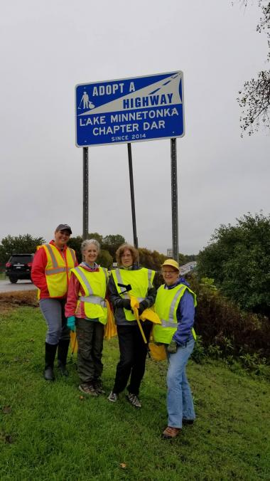 The Lake Minnetonka Chapter, MN, participated in a highway cleanup along the chapter's adopted highway