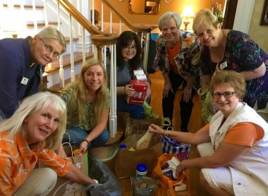 The Samuel Frazier Chapter, TN, collected donation items for the TN Fisher House, A Hand Up for Women, and the Knox County Christian Women's Job Corps.