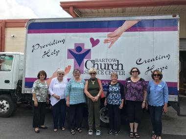 The Bartow Chapter, FL, collected and donated canned goods and other non-perishable items to the Bartow Church Service Center, that assists those in need in their local community.