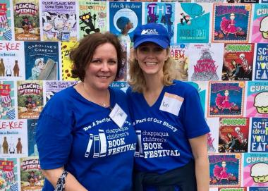 The Polly Cooper Chapter, NY, volunteered at the Chappaqua Children's Book Festival.
