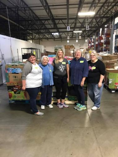 The Western Reserve-Lakewood Chapter, OH, volunteered at the Greater Cleveland Food Bank. Their task was to glean and sort the donated produce.
