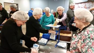 The Keewaydin Chapter, MN, volunteered at Feed My Starving Children. They packed 26 boxes of food that will go to Jamaica and Nicaragua