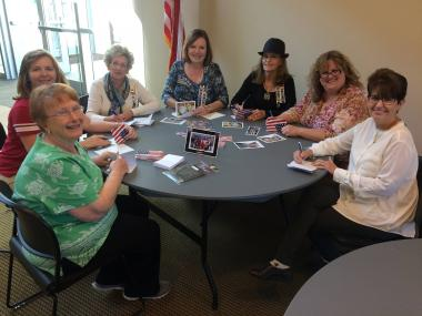 The Jonathan Wright Chapter, OH, wrote cards to veterans who will be participating in an Honor Flight. They also enclosed a photo frame to use for a favorite memory of their trip.