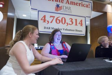Members log their volunteer service hours during Celebrate America Night. Members logged 4.7 million hours in 2013… how high will they go in 2014?