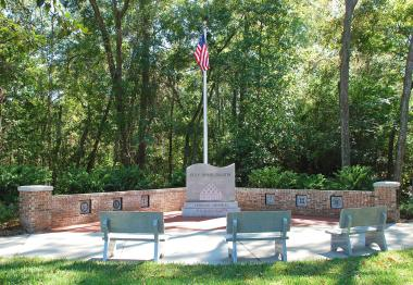 Grant Recipient, Patriotism Category: Historical Society of Orange Park, Fla., Orange Park, Fla. A $10,000 grant provided the funding needed to complete the construction of a veterans memorial at Magnolia Cemetery. The walled memorial includes a flag pole, three benches, and is shaped like a flowing flag to honor those have served in the armed forces.