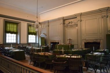 The Assembly Room, pictured here, is where the Declaration of Independence was signed.