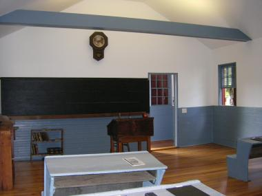 Grant Recipient, Education Category: Bell Hill Meetinghouse Association, Otisfield, Maine. The Bell Hill Schoolhouse, located in western Maine, is the only survivor of three one-room brick schoolhouses built in Otisfield in 1839. Restorations included bringing electrical services to the building, replacement of pest-damaged sheetrock and plaster, and refinishing the wood floor.