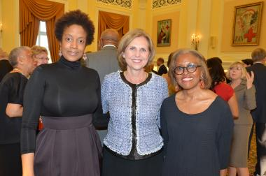 April 12, 2014 - DAR President General Lynn Young with some members of Marian Anderson's family who joined for the celebration.