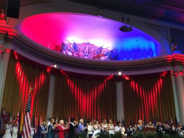 National Defense Night of the 123rd Continental Congress was a moving ceremony and an incredible tribute to both active duty military and veterans.
