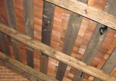 Grant Recipient, Historic Preservation Category: Historical Society of Moreau and South Glens Falls, South Glens Falls, N.Y. After clearing, cleaning, and reinforcing, shake shingles were installed under the rafters. Also installed were hidden single flood lights which will be used to highlight special features in the summer kitchen exhibit.