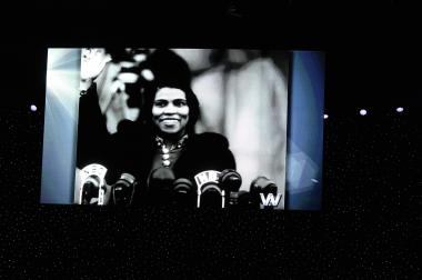 "April 12, 2014 - The concert also included a recorded presentation of Marian Anderson singing Franz Schubert's ""Ave Maria."" The 75th anniversary celebration concluded with the entire audience joining to sing ""America (My Country 'Tis of Thee)."""