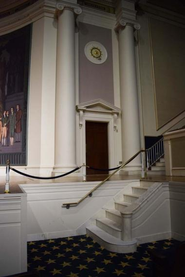 The marble stairs and railings used during DAR Continental Congress were also restored.