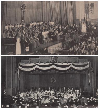 Top: 53rd Continental Congress, Waldorf Astoria, New York City Bottom: 54th Continental Congress, Atlantic City, NJ
