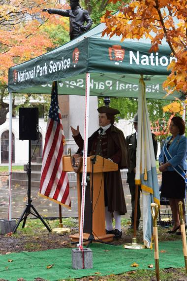 Thomas Jefferson was quite the crowd pleaser as he shared some words of wisdom both from his time spent working in Independence Hall as well as his interest in arboriculture and horticulture.