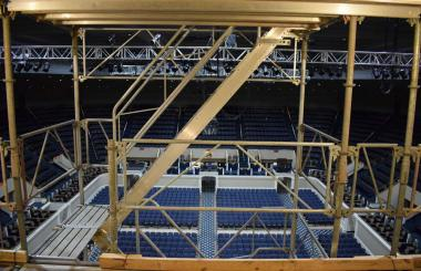 The scaffolding provided a very different and new view of the Hall from that high up.