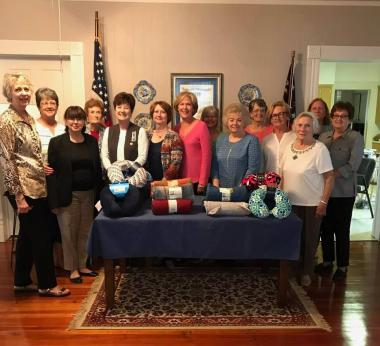 The Barnard Trail Chapter donated neck pillows and lap blankets for cancer chemotherapy patients at their local hospital.