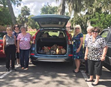 The Bartow Chapter collected and donated canned goods and other non-perishable items to their community's Bartow Church Service Center.