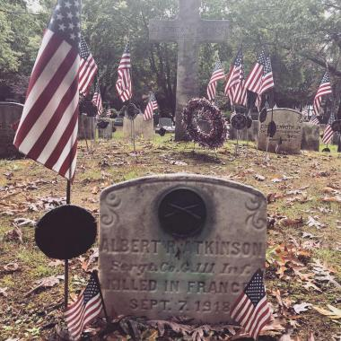 The Bucks County Chapter spent their day at the historic Doylestown Cemetery identifying the graves of local veterans in preparation for their December 15th Wreaths Across America ceremony and wreath laying.