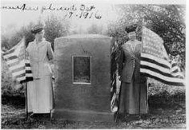 Cache La Poudre Chapter NSDAR, Antoine Janis marker dedication, dated October 17, 1916