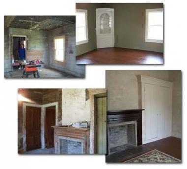 The Libertad Chapter, NSDAR sponsored a DAR historic restoration grant for the 1860 Cleveland-Partlow House in Liberty, TX. The grant replaced and refinished walls, ceilings, floors and window trim molding for the Dog Trot Hallway, Mim's Bedroom and the kitchen service area of the house.