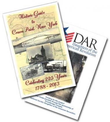 A DAR Education grant helped the Penfield Homestead Museum to print 1000 copies of a 36-page historic guide book of Crown Point, NY. The books will be distributed to citizens and visitors free of charge at the Penfield Homestead Museum and several other locations throughout the community. The historic guide book, which spans the years 1609-2013, includes short written histories and photos of 11 Crown Point sites and 8 short biographies of people who had a critical role in Crown Point's history. The sponsori