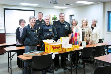 Daniel Boone Chapter, NC brought breakfast to the Watauga County Sheriff's Department