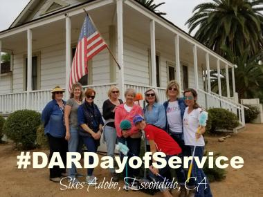 The De Anza Chapter cleaned up the Sikes Adobe Historic Farmstead, where they placed a historical marker in May.